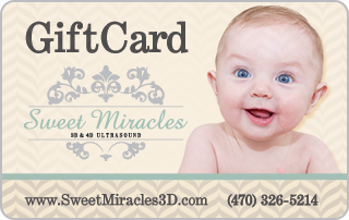 purchase a gift card for a 3d ultrasound in our Atlanta facility for the mom-to-be in your life.
